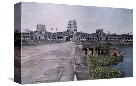 This Image Shows the Ancient Capital of Cambodia, Angkor-Gervais Courtellemont-Stretched Canvas Print