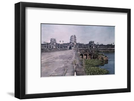 This Image Shows the Ancient Capital of Cambodia, Angkor-Gervais Courtellemont-Framed Art Print