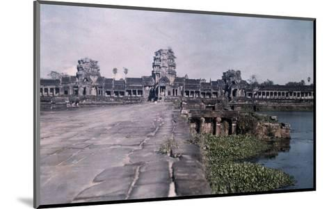 This Image Shows the Ancient Capital of Cambodia, Angkor-Gervais Courtellemont-Mounted Photographic Print