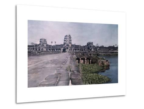 This Image Shows the Ancient Capital of Cambodia, Angkor-Gervais Courtellemont-Metal Print