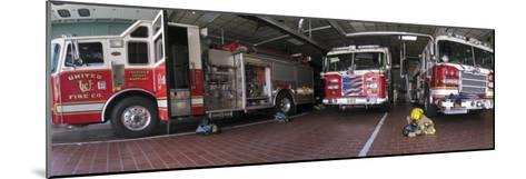 Fire Engines Ready for Call at a Station in Frederick, Maryland-Greg Dale-Mounted Photographic Print