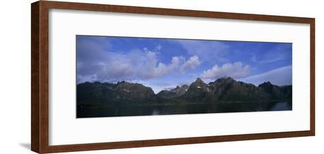 Mountainous Coast of Norway's Western Islands South of the Lofotens-Paul Sutherland-Framed Art Print