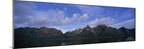 Mountainous Coast of Norway's Western Islands South of the Lofotens-Paul Sutherland-Mounted Photographic Print