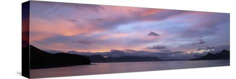 Dramatic Sky at Sunrise over Cumberland Bay, Island of South Georgia-Paul Sutherland-Stretched Canvas Print