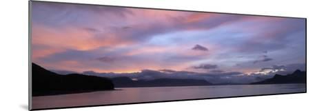 Dramatic Sky at Sunrise over Cumberland Bay, Island of South Georgia-Paul Sutherland-Mounted Photographic Print