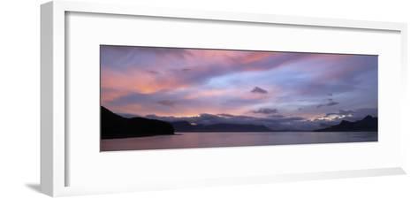 Dramatic Sky at Sunrise over Cumberland Bay, Island of South Georgia-Paul Sutherland-Framed Art Print