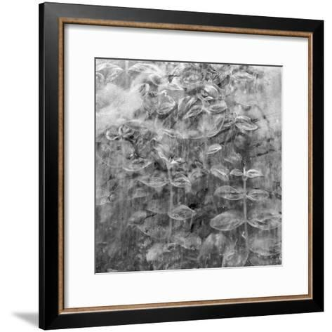 Plant Pressed Up to Glass in a Greenhouse Creates an Abstract Pattern-Keenpress-Framed Art Print