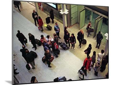 Travelers from Paris Arrive in London on the Eurostar High-Speed Train-Steve Raymer-Mounted Photographic Print
