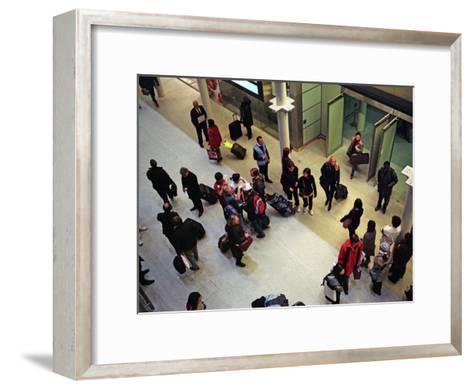 Travelers from Paris Arrive in London on the Eurostar High-Speed Train-Steve Raymer-Framed Art Print