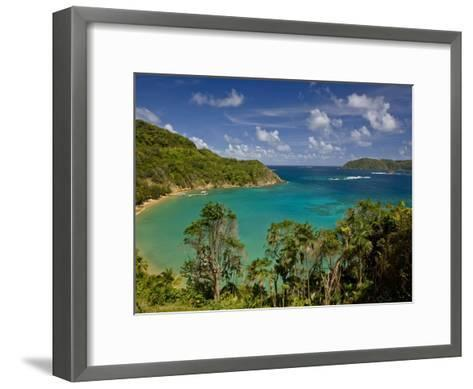 View across Blue Water Bay Toward the Caribbean Sea-Michael Melford-Framed Art Print