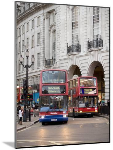 London Buses Passing the Alliance Life Building in Piccadilly Circus-xPacifica-Mounted Photographic Print