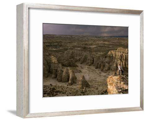Natural Gas Drilling Threatens the Rock Formations of Adobe Town-Joel Sartore-Framed Art Print
