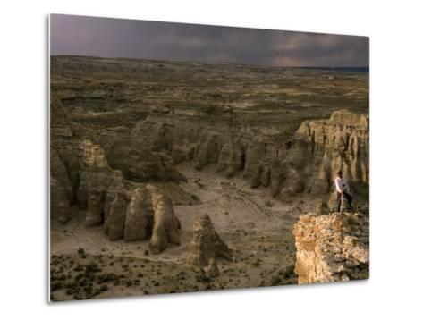 Natural Gas Drilling Threatens the Rock Formations of Adobe Town-Joel Sartore-Metal Print