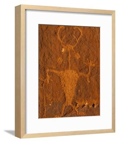Moab Man Rock Art from the Formative Period (Ad 1-1275)-Rich Reid-Framed Art Print