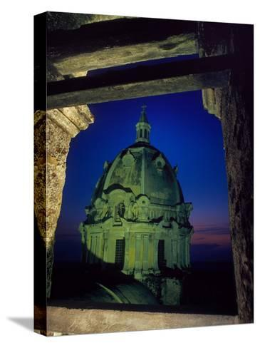Dome of San Pedro Claver Rises Above Old Cartagena, Colombia-O^ Louis Mazzatenta-Stretched Canvas Print