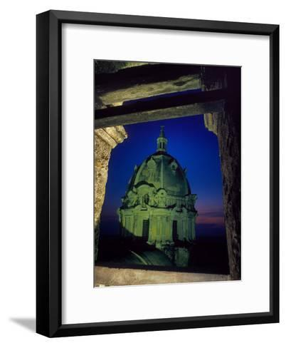 Dome of San Pedro Claver Rises Above Old Cartagena, Colombia-O^ Louis Mazzatenta-Framed Art Print