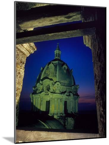 Dome of San Pedro Claver Rises Above Old Cartagena, Colombia-O^ Louis Mazzatenta-Mounted Photographic Print