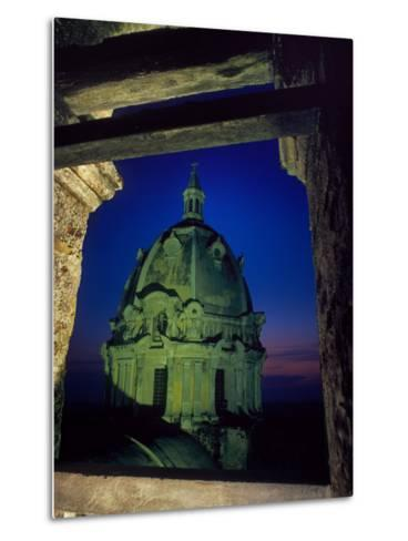 Dome of San Pedro Claver Rises Above Old Cartagena, Colombia-O^ Louis Mazzatenta-Metal Print