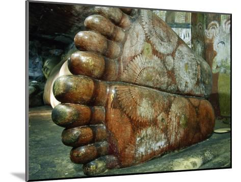 Feet of a 1st Century Reclining Stone Buddha in a Cave Temple-Jason Edwards-Mounted Photographic Print