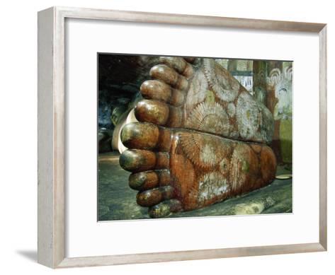 Feet of a 1st Century Reclining Stone Buddha in a Cave Temple-Jason Edwards-Framed Art Print