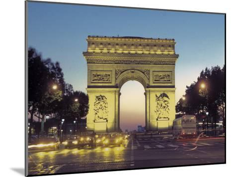 Arc De Triomphe and the Champs-Elysees Boulevard at Dusk-Richard Nowitz-Mounted Photographic Print