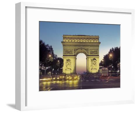 Arc De Triomphe and the Champs-Elysees Boulevard at Dusk-Richard Nowitz-Framed Art Print