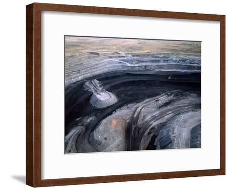 Aerial View of a Non Lignite Coal Strip Mine-Joel Sartore-Framed Art Print