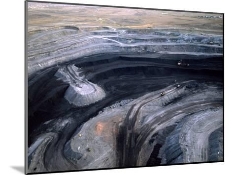 Aerial View of a Non Lignite Coal Strip Mine-Joel Sartore-Mounted Photographic Print