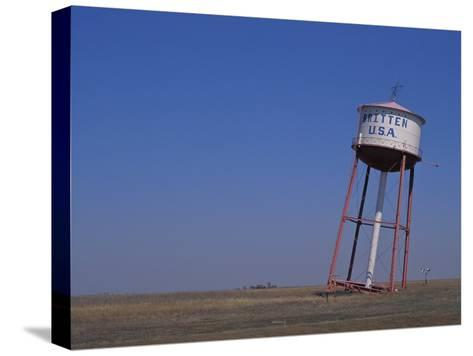 Old Britten Usa Truck Stop Water Tower Leaning at a Rakish Angle-Greg Dale-Stretched Canvas Print