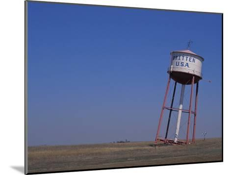 Old Britten Usa Truck Stop Water Tower Leaning at a Rakish Angle-Greg Dale-Mounted Photographic Print