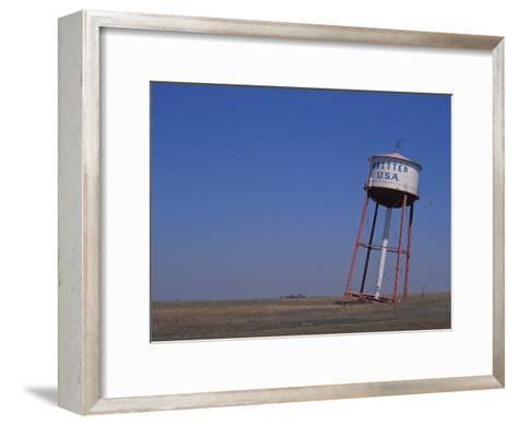 Old Britten Usa Truck Stop Water Tower Leaning at a Rakish Angle-Greg Dale-Framed Art Print