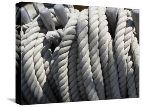 Close-up of Rope on Board the HMS Victory-Keenpress-Stretched Canvas Print