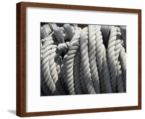 Close-up of Rope on Board the HMS Victory-Keenpress-Framed Art Print