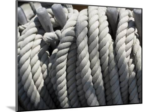 Close-up of Rope on Board the HMS Victory-Keenpress-Mounted Photographic Print