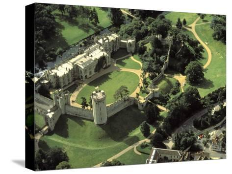 Aerial View of Warwick Castle-Richard Nowitz-Stretched Canvas Print