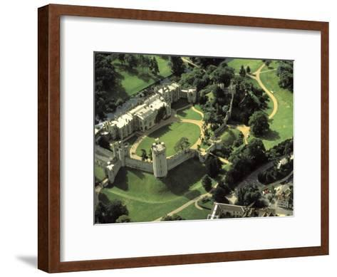 Aerial View of Warwick Castle-Richard Nowitz-Framed Art Print