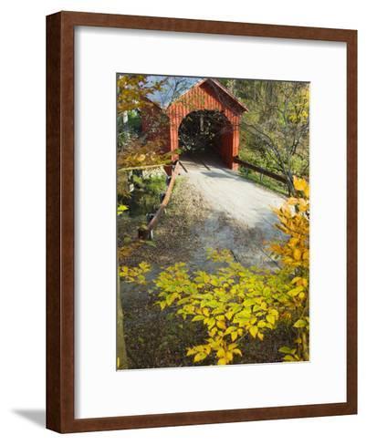 Slaughter House Bridge and Fall Colors-James Forte-Framed Art Print