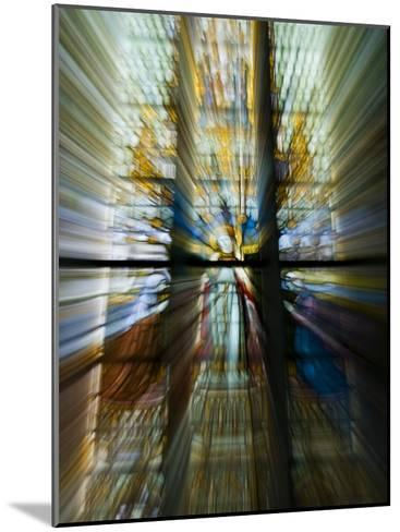 Zoom Special Effect of a Church Stained Glass Window-Mattias Klum-Mounted Photographic Print