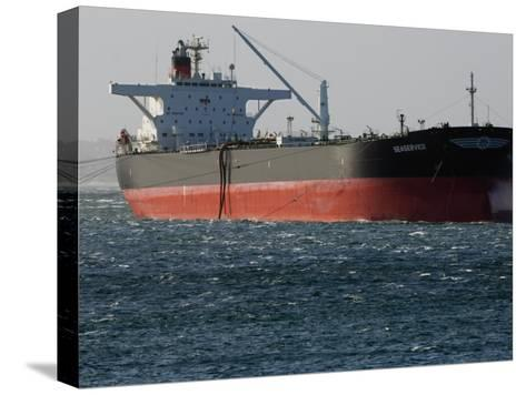 Sea-Going Tanker Anchored in Sydney Harbor-Mattias Klum-Stretched Canvas Print