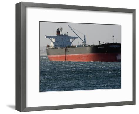 Sea-Going Tanker Anchored in Sydney Harbor-Mattias Klum-Framed Art Print