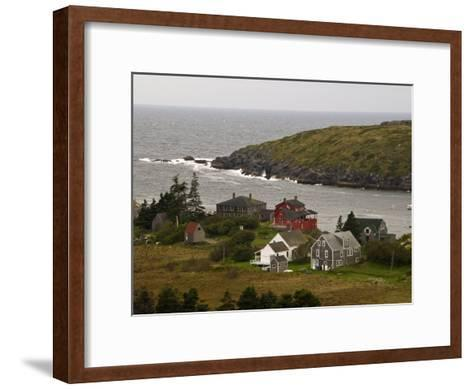 View of Homes and Rugged Coastline of Monhegan Island-Todd Gipstein-Framed Art Print