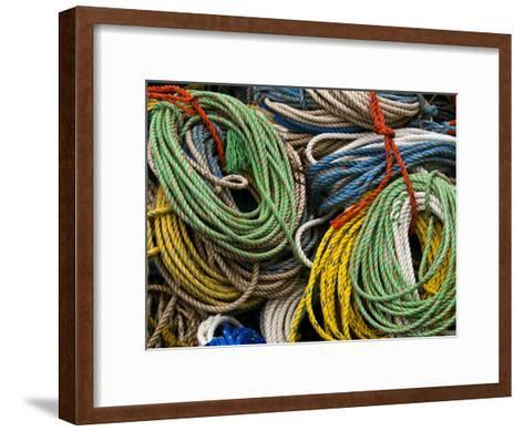 Close-up of Bundles of Bright Colored Ropes-Todd Gipstein-Framed Art Print