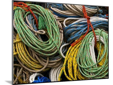 Close-up of Bundles of Bright Colored Ropes-Todd Gipstein-Mounted Photographic Print