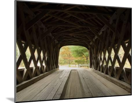 Interior of Bartonsville Covered Bridge, Fall Foliage Tour, Vermont-James Forte-Mounted Photographic Print