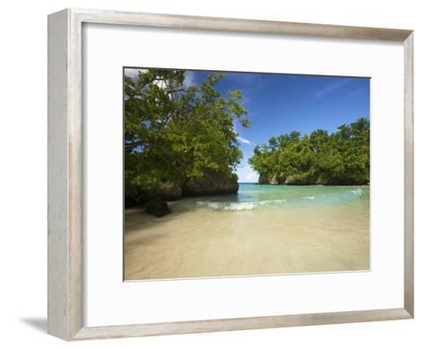 Secluded Beach at Frenchman's Cove in Jamaica-Michael Melford-Framed Art Print