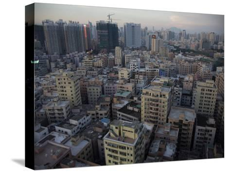 Modern Architecture Surrounds Older Buildings in Shenzhen-Randy Olson-Stretched Canvas Print