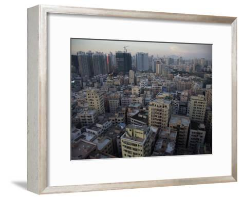 Modern Architecture Surrounds Older Buildings in Shenzhen-Randy Olson-Framed Art Print