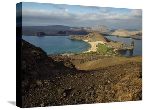 Santiago Island Seen from Bartolome Island, Galapagos Islands-Tim Laman-Stretched Canvas Print