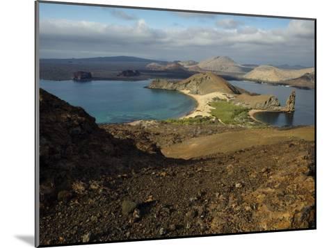 Santiago Island Seen from Bartolome Island, Galapagos Islands-Tim Laman-Mounted Photographic Print