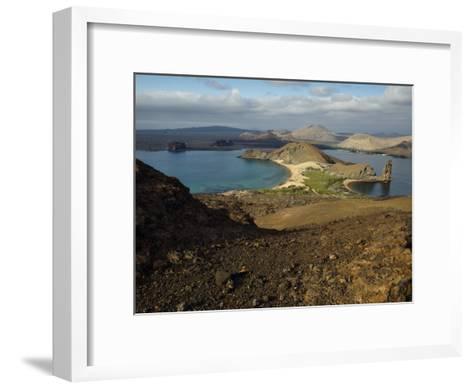 Santiago Island Seen from Bartolome Island, Galapagos Islands-Tim Laman-Framed Art Print